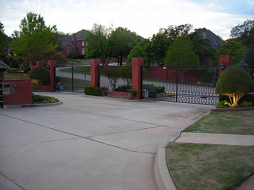 Gated community front entrance